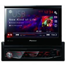 """PIONEER AVH 3800DVD/1Din мультимедийная DVD / USB станция с 7"""" ЖК экраном WVGA, 4X50 Вт, красная"""
