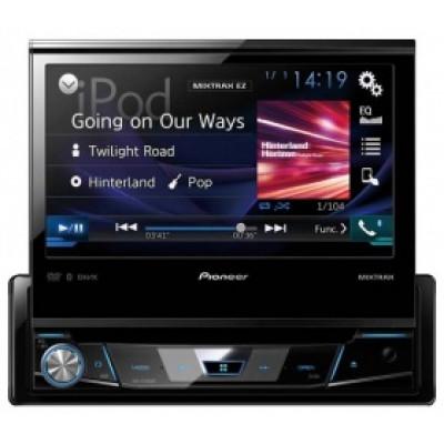 "PIONEER AVH X7800 BT/мультимедиа 1 din,USB,BT,iPod/iPhone/дисплей TFT 7"" многоцветный/"