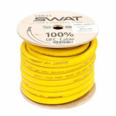 SWAT APS-00Y /силовой кабель 00Ga/70мм-15м/кат. жёлтый(+)/