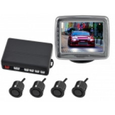 "INCAR PT-1043B /видеопарктроник 4 датч.Black с экр.LCD 3.5"" /"
