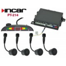INCAR PT-214S /парктроник 4 датч.Silver, контроль мертвых зон/