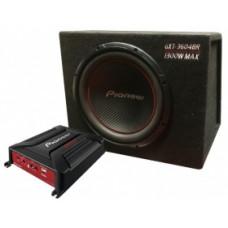 PIONEER GXT 3604 BR/комплект из сабвуфера,усилителя и кабелей/